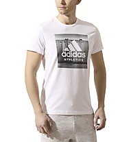Adidas Category Ath - Fitness-T-Shirt - Herren, White