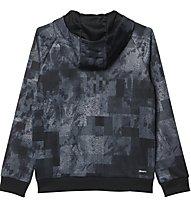 Adidas Climalite Allover Print Giacca con cappuccio bambino, Grey