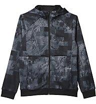 Adidas Climalite Allover Print - Kapuzenjacke, Grey