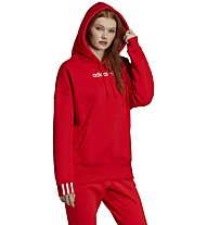 adidas Originals Coeeze - felpa con cappuccio - donna, Red