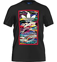 Adidas Originals Color Pattern Herren T-Shirt Fitness Kurzarm, Black