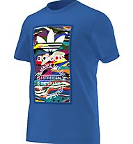 Adidas Originals Color Pattern - T-shirt fitness - uomo, Blue