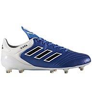 Adidas Copa 17.1 FG - Fußballschuh für kompakten Boden, White/Blue