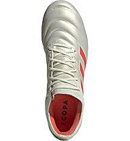 adidas Copa 19.1 FG - Fußballschuhe kompakte Rasenplätze, White/Orange/Black