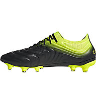 adidas Copa 19.1 FG - scarpe da calcio terreni compatti, Black/Lime