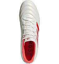 adidas Copa 19.3 FG - Fußballschuhe fester Boden, White/Orange