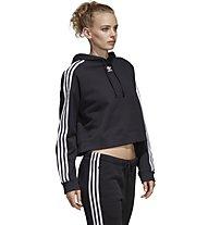 adidas Originals Cropperd - felpa con cappuccio - donna, Black