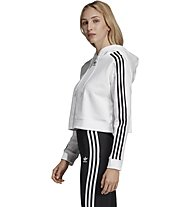 adidas Originals Cropperd - felpa con cappuccio - donna, White