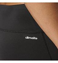 Adidas D2M Short Tight - Fitnesshose - Damen, Black