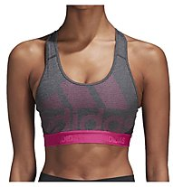 adidas Don't Rest Alphaskin - Sport-Bh mittlerer Halt - Damen, Grey/Pink