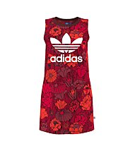 Adidas Dress Tank Dress Top lungo donna, Red