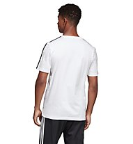 adidas Essentials 3 Stripes - T-shirt - uomo, White