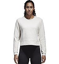 adidas EC Performance Sweatshirt - Pullover Fitness - Damen, White