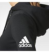 Adidas Essential Solid FZ - Kapuzenjacke - Damen, Black