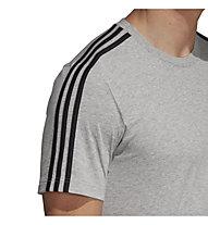 adidas Essentials 3 Stripes - T-shirt - uomo, Grey