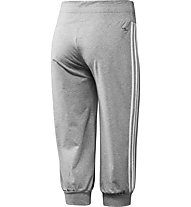 Adidas Essentials 3S 3/4 Knit Pant, Light Grey/White