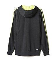 Adidas Essential 3S felpa ginnastica, Grey Heather/Solar Yellow