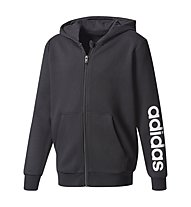 Adidas Essentials Linear FZ Hoodie - Kapuzenjacke - Kinder, Black