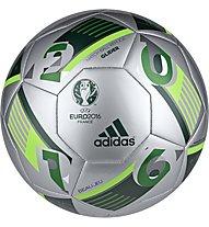 Adidas EURO16 Glider Turf - pallone da calcio terreni duri, Silver/Green