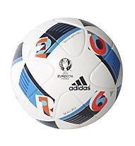 Adidas UEFA EURO 2016 OMB pallone da calcio, White/Brblue/Nindig