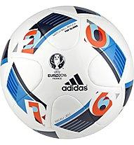 Adidas Beau Jeu  - EURO 2016 Top Glider pallone allenamento 5, White/Blue