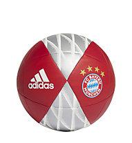adidas FC Bayern München Capitano - pallone da calcio, Red/Silver