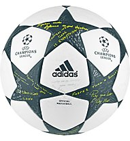 Adidas Finale 16 Official UEFA Champions League - pallone da calcio, White/Grey