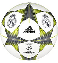 Adidas Finale 15 Real Madrid Capitano - pallone da calcio, White/Lead/Bright Orange
