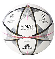 Adidas Finale Milano Official Match Ball Pallone Calcio, White/Black/Pink