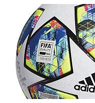 adidas Finale OMB - pallone da calcio, White/Cyan/Yellow