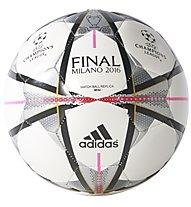 Adidas Pallone Mini Finale Milano - mini pallone da calcio, White/Black/Pink