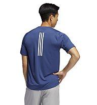 adidas Freelift Sport Fitted Three Stripes - T-Shirt - Herren, Blue