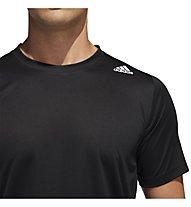 adidas Freelift Sport Fitted Three Stripes - T-Shirt - Herren, Black