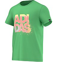 Adidas Glass Lineage T-Shirt, Semi Flash Green