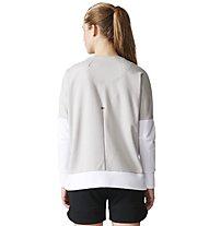 Adidas Glory Crew - Swaeatshirt - Damen, White