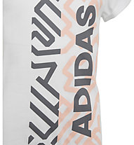 adidas Graphic Tee - T-shirt fitness - bambina, White