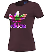 Adidas Originals Graphic Trefoil Damen T-Shirt Fitness, Dark Red