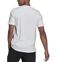 adidas Hacked Logo - T-shirt - Herren, White