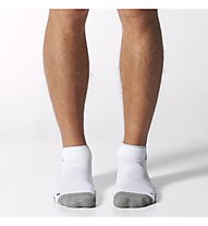 Adidas Half Cushion Ankle Sock - calzini corti, White/Medium Grey Heather/Black