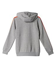 Adidas Essentials 3 Stripes - Kapuzenpullover - Jungen, Grey/Orange