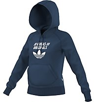 Adidas Originals Hooded Sweathoodie Damen Kapuzenpullover Fitness, Blue
