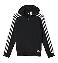 Adidas Essential 3 Stripes - Kapuzenjacke - Jungen, Black/White