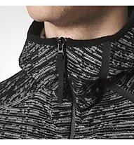 Adidas Z.N.E - Kapuzenjacke mit Kapuze Fitness - Herren, Black/White