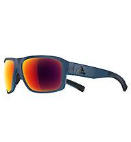 adidas Jaysor - occhiali sportivi, Blue Transparent Matt-Red Mirror
