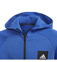 adidas JB A MHE Full-Zip - felpa con cappuccio - bambino, Blue