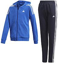 adidas Cotton - tuta sportiva - bambino, Light Blue/Blue