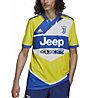 adidas Juventus 21/22 3rd Jersey - Fußballtrikot - Herren, Yellow/Blue/White