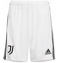 adidas Juventus Home 2021/22 - pantaloni calcio - bambino, White/Black