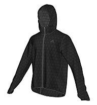 Adidas Kanoi Transparent Jkt - giacca running, Black