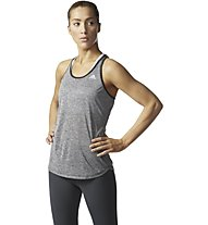 Adidas Keyhole Tank Top fitness donna, Grey